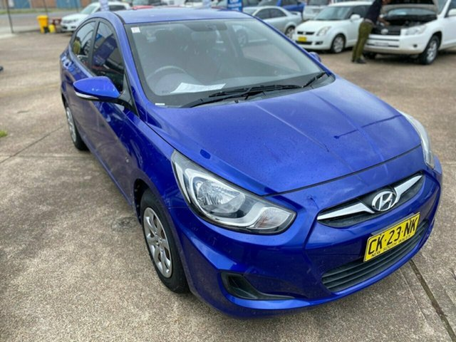 Used Hyundai Accent RB Active Wickham, 2012 Hyundai Accent RB Active Blue 5 Speed Manual Sedan