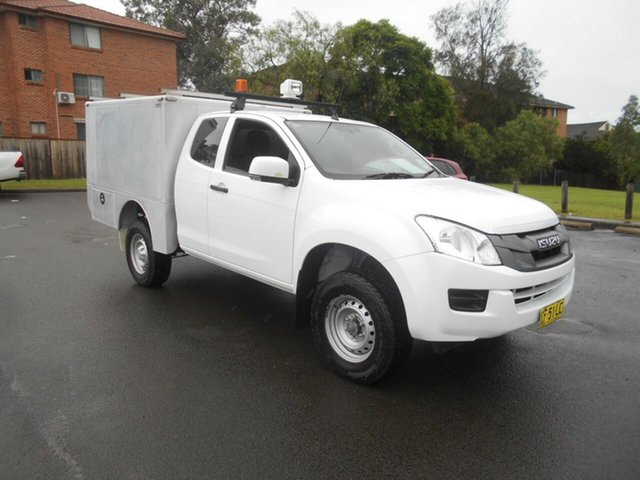 Used Isuzu D-MAX TF MY15 SX (4x4) Bankstown, 2015 Isuzu D-MAX TF MY15 SX (4x4) White 5 Speed Automatic Space Cab Chassis