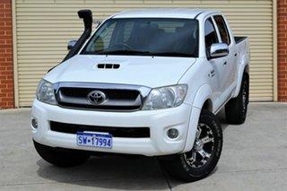 2010 Toyota Hilux KUN26R MY10 SR5 White 5 Speed Manual Utility.