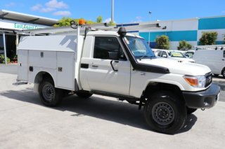 2017 Toyota Landcruiser VDJ79R Workmate French Vanilla 5 speed Manual Cab Chassis