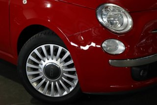 2013 Fiat 500 Series 1 Lounge Dualogic Red 5 Speed Sports Automatic Single Clutch Hatchback.