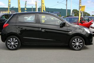 2015 Mitsubishi Mirage LA MY15 ES Black Mica 1 Speed Constant Variable Hatchback