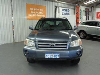 2006 Toyota Kluger MCU28R MY06 CV AWD Blue 5 Speed Automatic Wagon.
