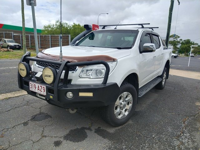 Used Holden Colorado RG MY16 LTZ Crew Cab North Rockhampton, 2016 Holden Colorado RG MY16 LTZ Crew Cab White 6 Speed Manual Utility