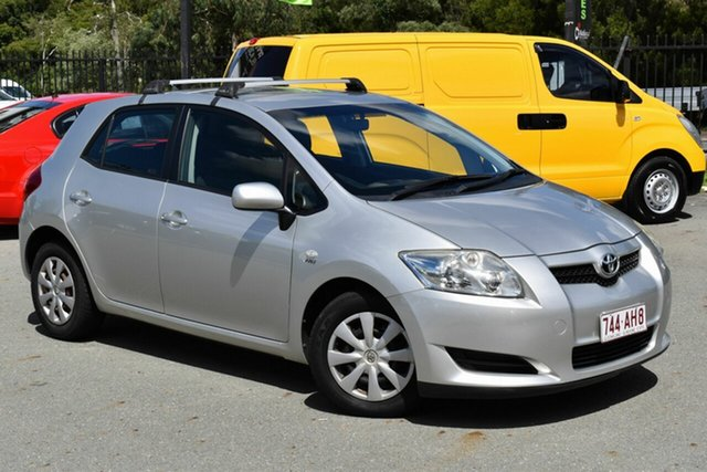Used Toyota Corolla ZRE152R Ascent Underwood, 2007 Toyota Corolla ZRE152R Ascent Silver 4 Speed Automatic Hatchback