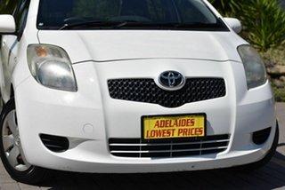 2006 Toyota Yaris NCP90R YR White 5 Speed Manual Hatchback