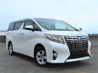 2015 Toyota Alphard Hybrid White 5 Speed Automatic Wagon.