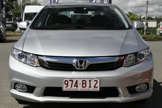 2012 Honda Civic 9th Gen Ser II Sport Albaster Silver/black 5 Speed Sports Automatic Sedan