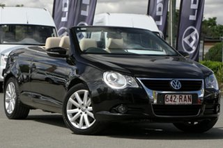 2010 Volkswagen EOS 1F MY09 147TSI DSG Deep Black 6 Speed Sports Automatic Dual Clutch Convertible.