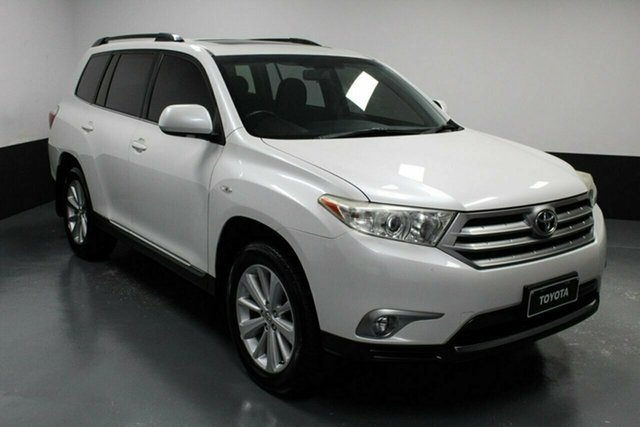 Used Toyota Kluger GSU40R MY12 Altitude 2WD Hamilton, 2013 Toyota Kluger GSU40R MY12 Altitude 2WD White 5 Speed Sports Automatic Wagon