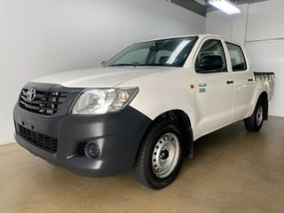 2015 Toyota Hilux TGN16R MY14 Workmate White 4 Speed Automatic Dual Cab Pick-up