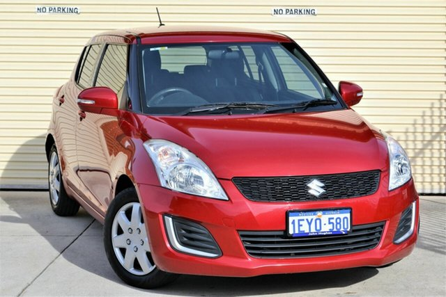 Used Suzuki Swift FZ MY15 GL Mount Lawley, 2016 Suzuki Swift FZ MY15 GL Red 4 Speed Automatic Hatchback