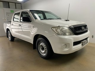 2011 Toyota Hilux KUN16R MY11 Upgrade SR White 5 Speed Manual Dual Cab Pick-up.