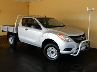 2015 Mazda BT-50 MY13 XT Hi-Rider (4x2) Silver 6 Speed Manual Freestyle Cab Chassis.