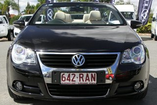 2010 Volkswagen EOS 1F MY09 147TSI DSG Deep Black 6 Speed Sports Automatic Dual Clutch Convertible