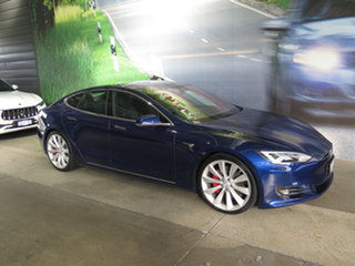 2017 Tesla Model S P100D Blue 1 Speed Automatic Hatchback.
