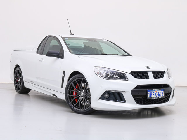 Used Holden Special Vehicles Maloo Gen F MY15 R8, 2014 Holden Special Vehicles Maloo Gen F MY15 R8 White 6 Speed Manual Utility