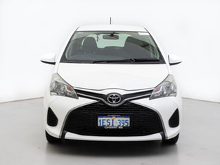 2015 Toyota Yaris NCP130R MY15 Ascent White 5 Speed Manual Hatchback.