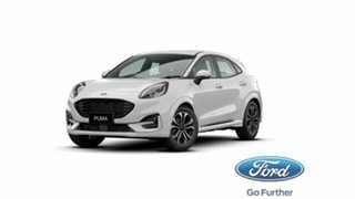 2020 Ford Puma JK 2021.25MY ST-Line Frozen White 7 Speed Sports Automatic Dual Clutch Wagon