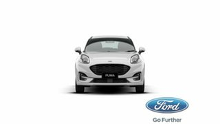 2020 Ford Puma JK 2021.25MY ST-Line Frozen White 7 Speed Sports Automatic Dual Clutch Wagon.