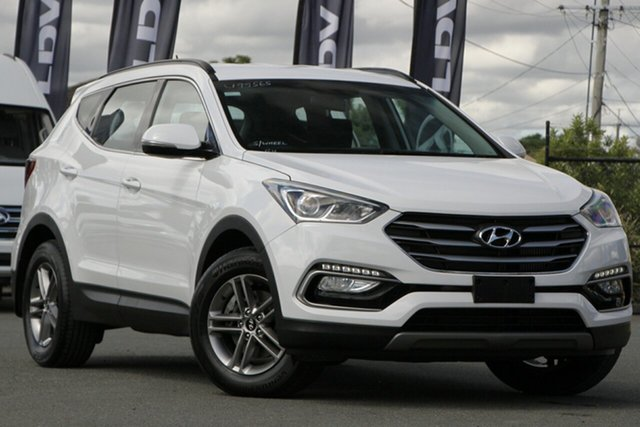 Used Hyundai Santa Fe DM3 MY17 Active Rocklea, 2017 Hyundai Santa Fe DM3 MY17 Active Pure White 6 Speed Sports Automatic Wagon