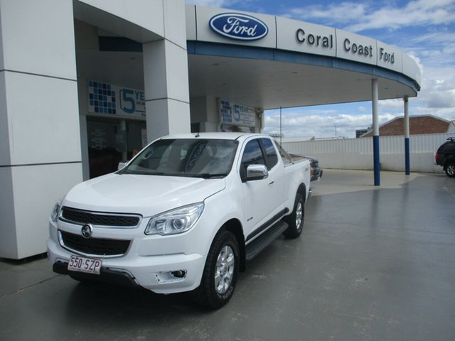 Used Holden Colorado RG LTZ (4x4) Bundaberg, 2012 Holden Colorado RG LTZ (4x4) White 5 Speed Manual Space Cab Pickup