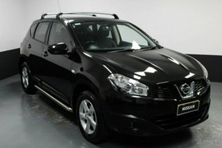 2012 Nissan Dualis J10W Series 3 MY12 ST Hatch 2WD Black 6 Speed Manual Hatchback.