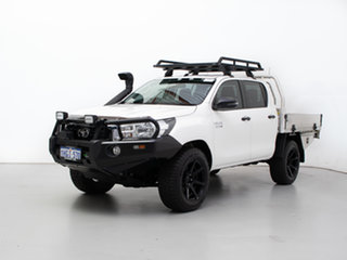 2019 Toyota Hilux GUN126R MY19 SR (4x4) White 6 Speed Manual Double Cab Chassis.