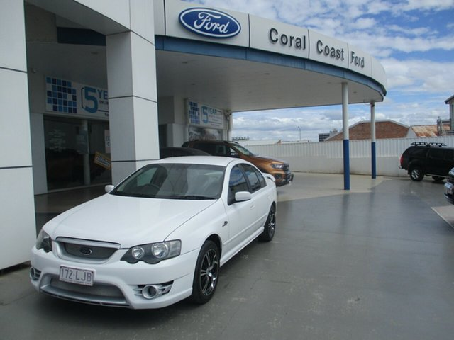 Used Ford Falcon BF Futura Bundaberg, 2005 Ford Falcon BF Futura White 4 Speed Auto Seq Sportshift Sedan
