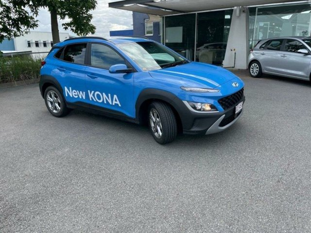 Demo Hyundai Kona Os.v4 MY21 Active 2WD Springwood, 2020 Hyundai Kona Os.v4 MY21 Active 2WD Surfy Blue 8 Speed Constant Variable Wagon