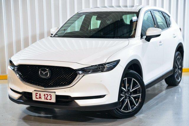 Used Mazda CX-5 KF4W2A Akera SKYACTIV-Drive i-ACTIV AWD Hendra, 2017 Mazda CX-5 KF4W2A Akera SKYACTIV-Drive i-ACTIV AWD White 6 Speed Sports Automatic Wagon