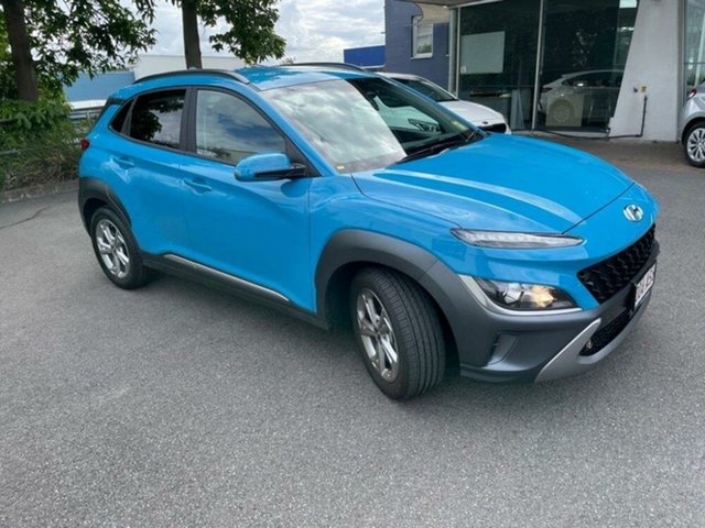 Demo Hyundai Kona Os.v4 MY21 Elite 2WD Springwood, 2020 Hyundai Kona Os.v4 MY21 Elite 2WD Dive in Jeju 8 Speed Constant Variable Wagon