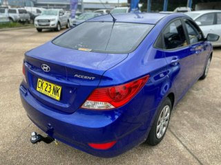 2012 Hyundai Accent RB Active Blue 5 Speed Manual Sedan