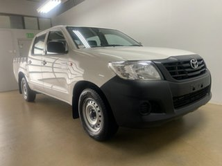 2015 Toyota Hilux TGN16R MY14 Workmate White 4 Speed Automatic Dual Cab Pick-up.