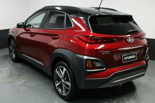 2018 Hyundai Kona OS MY18 Highlander D-CT AWD Red 7 Speed Sports Automatic Dual Clutch Wagon