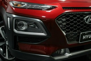2018 Hyundai Kona OS MY18 Highlander D-CT AWD Red 7 Speed Sports Automatic Dual Clutch Wagon.