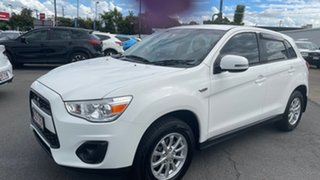 2012 Mitsubishi ASX XB MY13 2WD White 6 Speed Constant Variable Wagon.