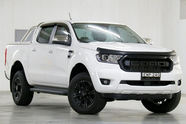Demo Ford Ranger PX MkIII 2020.25MY XLT Homebush, 2020 Ford Ranger PX MkIII 2020.25MY XLT Arctic White 6 Speed Sports Automatic Double Cab Pick Up