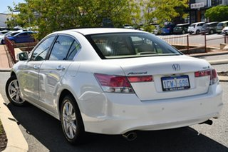 2008 Honda Accord 8th Gen V6 Luxury White 5 Speed Sports Automatic Sedan.