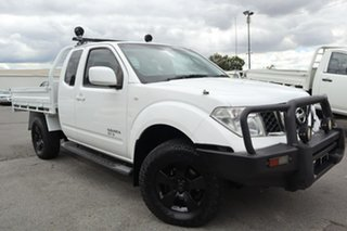 2014 Nissan Navara D40 S8 ST-X King Cab White 5 Speed Automatic Cab Chassis