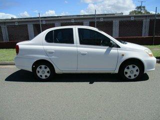 2005 Toyota Echo NCP12R MY03 White 5 Speed Manual Sedan.