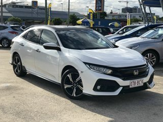 2018 Honda Civic 10th Gen MY18 RS White 1 Speed Constant Variable Hatchback.