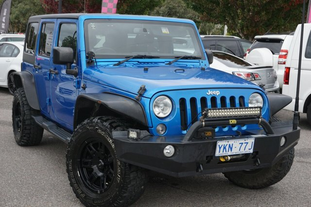 Used Jeep Wrangler JK MY2014 Unlimited Sport Phillip, 2014 Jeep Wrangler JK MY2014 Unlimited Sport Blue 5 Speed Automatic Softtop