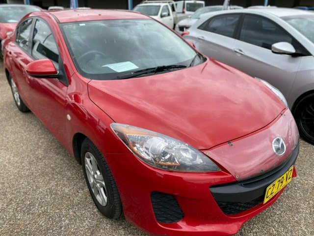 Used Mazda 3 BL10F2 Neo Wickham, 2012 Mazda 3 BL10F2 Neo Red 6 Speed Manual Hatchback