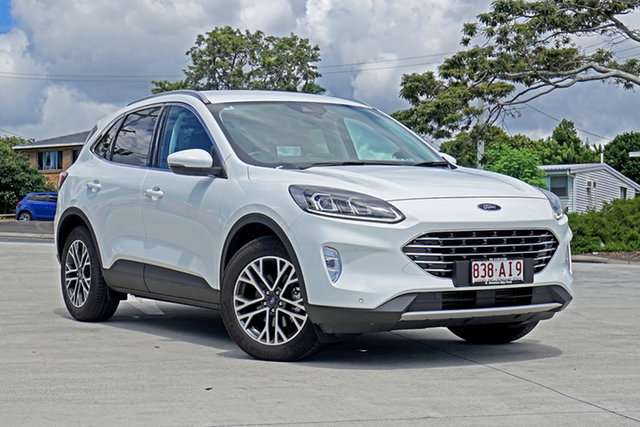 Used Ford Escape ZH 2020.75MY Capalaba, 2020 Ford Escape ZH 2020.75MY White 8 Speed Sports Automatic SUV