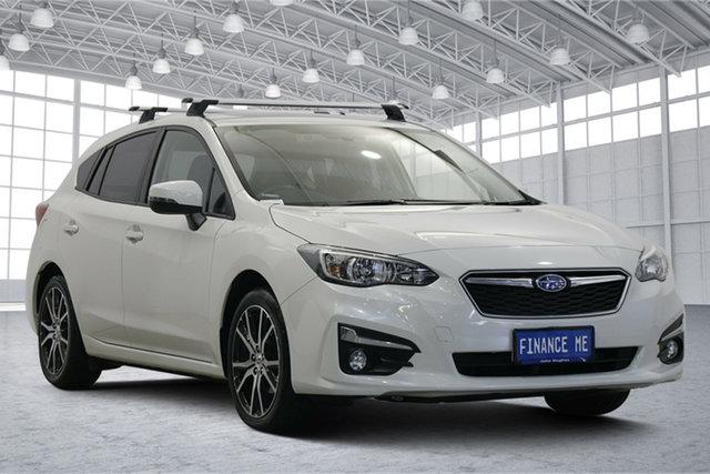 Used Subaru Impreza G5 MY18 2.0i Premium CVT AWD Victoria Park, 2018 Subaru Impreza G5 MY18 2.0i Premium CVT AWD White 7 Speed Constant Variable Hatchback