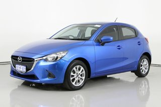 2016 Mazda 2 DJ MY16 Maxx Blue 6 Speed Automatic Hatchback.