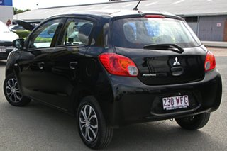 2015 Mitsubishi Mirage LA MY15 ES Black Mica 1 Speed Constant Variable Hatchback.
