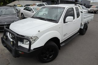 2014 Nissan Navara D40 S8 ST-X King Cab White 5 Speed Automatic Cab Chassis.