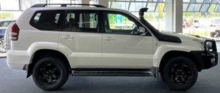 2007 Toyota Landcruiser Prado KDJ120R Grande White 5 Speed Automatic Wagon.